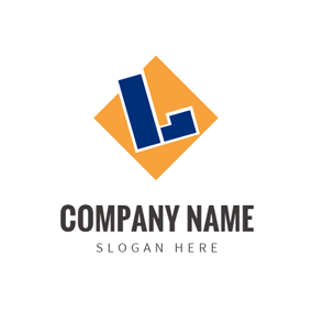 Yellow Square and Letter L logo design