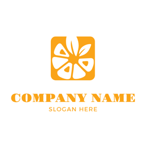 Yellow Square and White Tangerine logo design