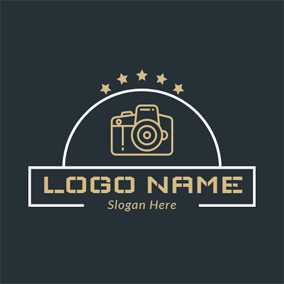 Yellow Star and Camera logo design