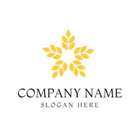 Yellow Star and Paddy logo design