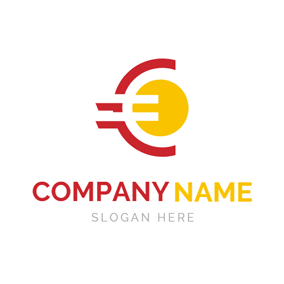 Yellow Sun and Euro Symbol logo design