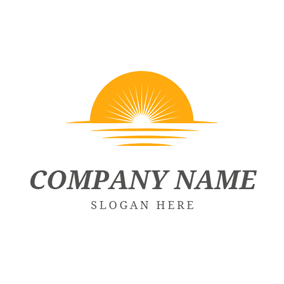 Yellow Sunset and White Laser logo design