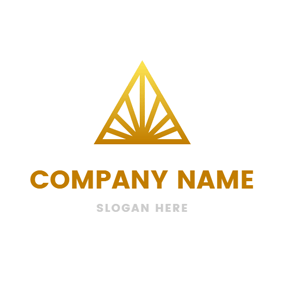 Yellow Triangle and Ray logo design