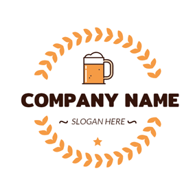 Yellow Wheat and Beer logo design