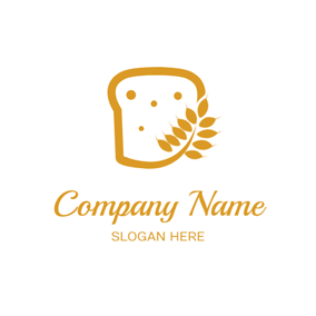 Yellow Wheat and Bread logo design