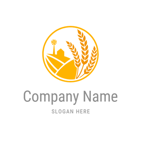 Yellow Wheat and Farm logo design