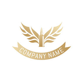 Yellow Wing and Bullet logo design
