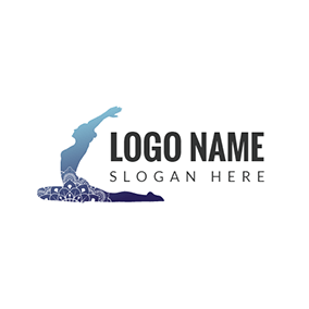 Yoga Clothes and Sport Woman logo design