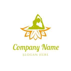 Yoga Woman and Yoga Lotus logo design